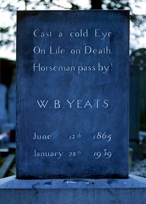 Readers' 10: The grave stone of William Butler Yeats