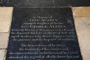 Readers' 10: Grave of the novelist Jane Austen