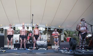 The Kaurna people perform Welcome to Country onstage