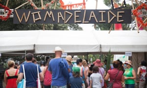 The crowds head into WOMADelaide this morning