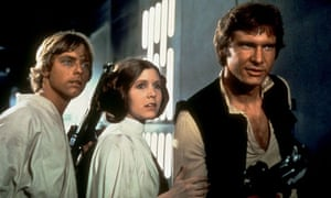 Mark Hamill, Carrie Fisher and Harrison Ford in the original Star Wars.
