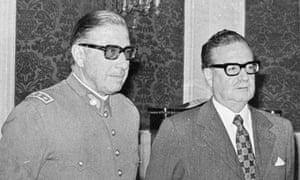 Augusto Pinochet and Salvador Allende