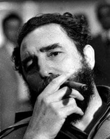 President Castro smoking cigar