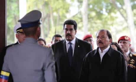Nicolás Maduro and Daniel Ortega