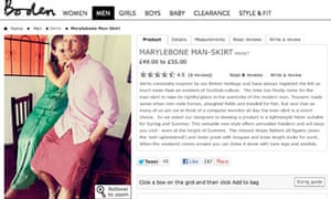 Boden's April fool Marylebone Man-Skirt