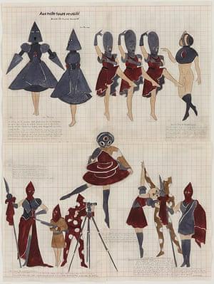 Marcel Dzama: The Queen's Profile or Aux mille tours Revisité , 2010