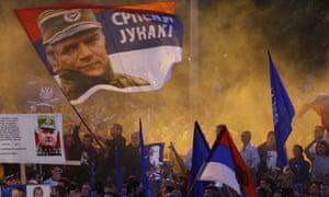 Pro-Mladic supporters demonstrate In Belgrade