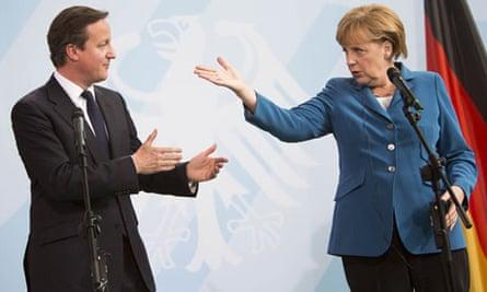 David Cameron EU survey Angela Merkel