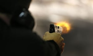 Target practice with a Glock in Salt Lake City shooting range