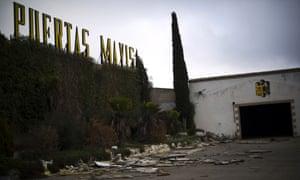 The abandoned terrain of the Mavisa door factory is empty on November 22, 2012 in Villacanas, Spain.
