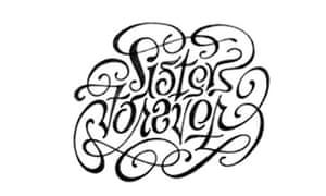 Sisters forever ambigram