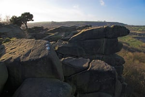 Cottages Derbyshire: Black Rock, High Peak Trail, Peak District, Derbyshire, England