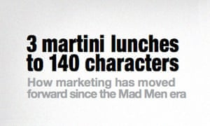 3 martini lunches to 140 characters