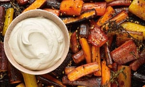 Honey-roasted carrots with tahini yoghurt