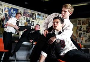 Nicholas Hytner: Jamie Parker, Russell Tovey, Dominic Cooper and Samuel Barnett in The History Boys
