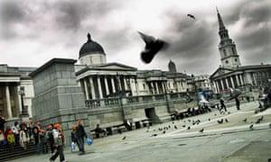 The empty plinth in Trafalgar Square
