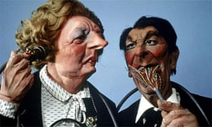 Spitting Image puppets of Margaret Thatcher and Ronald Reagan