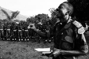 Minova DRC rape: Lt Colonel Kubuta Shemusobyo Aarom delivering a sermon