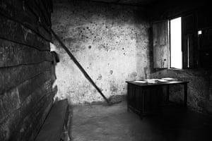 Minova DRC rape: Bullet holes riddle the walls inside of the military court house in Minova