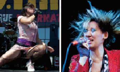 Karen O on stage 2004 & 2013
