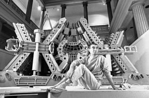 Paolo Soleri: Soleri rests in front of 3-D Jersey