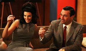 Mad Men … Jessica Paré and Jon Hamm as Megan and Don