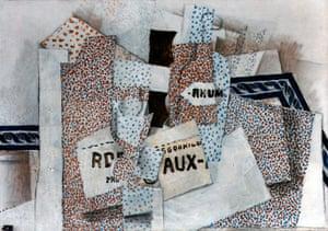 Lauder donation: Georges Braque, Bouteille de rhum (Bottle of Rum), 1914
