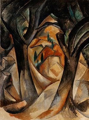 Lauder donation: Georges Braque, Trees at L'Estaque, 1908