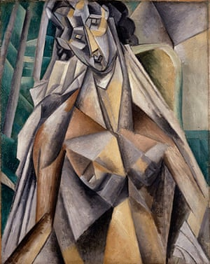 Lauder donation: Pablo Picasso, Nude Woman in an Armchair, summer 1909