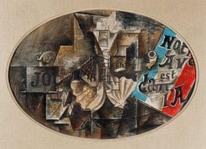 Lauder donation: Pablo Picasso, The Scallop Shell (Notre avenir est dans l'air), May 1912