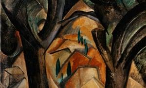 Georges Braque's Trees at L'Estaque (1908)