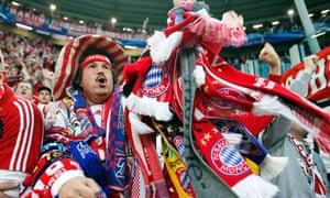 A Bayern Munich fan before the second leg of their Champions League quarter-final against Juventus.