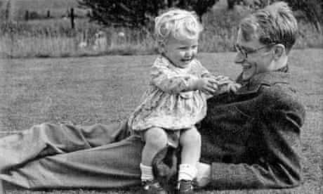 Francis Crick with his son Michael in 1943.