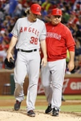 It's not getting any easier for the Los Angeles Angels who lost their ace pitcher Jered Weaver for a month after fracturing his arm against the Texas Rangers.