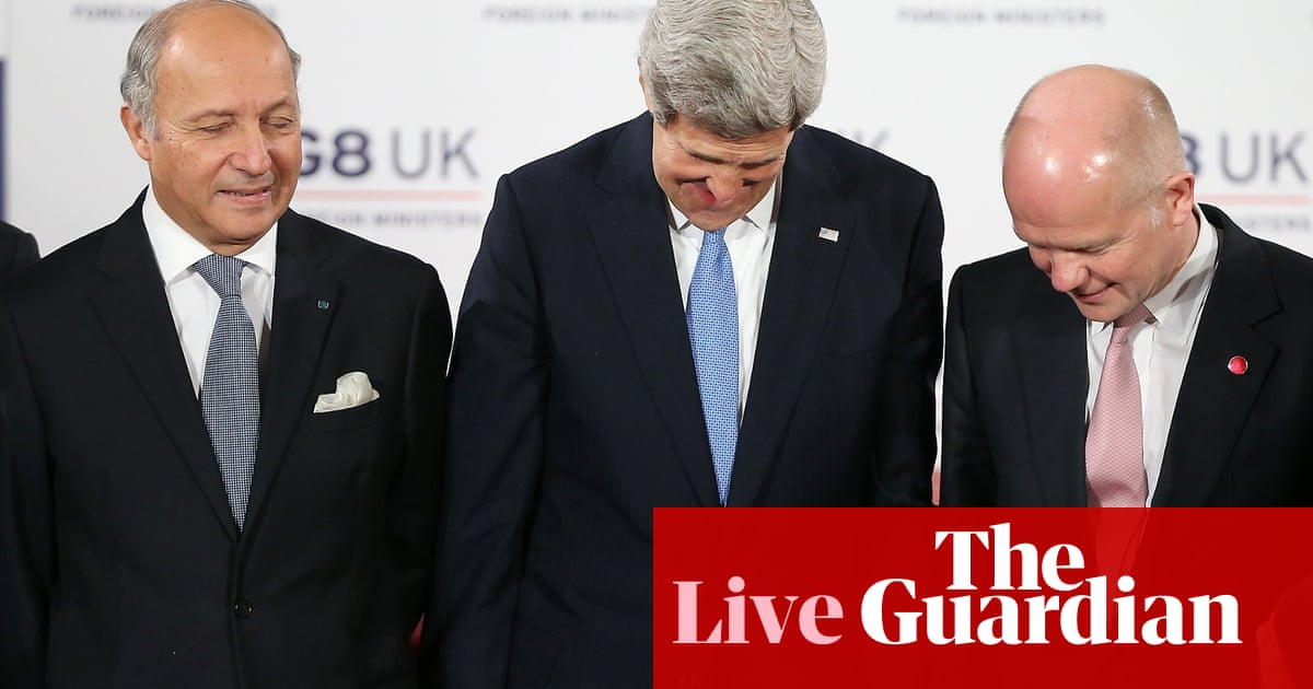 Syria crisis: G8 foreign ministers meet as rebels demand weapons