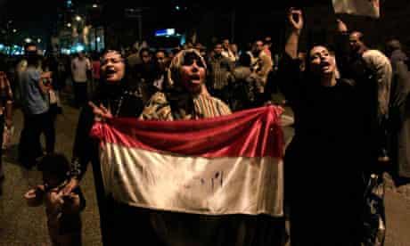 Egyptian women protest