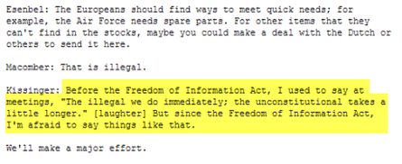 kissinger wikileaks