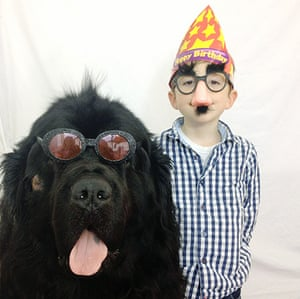 One boy and his dog: Julian Becker and Max the dog