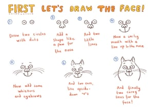 How to draw a cat: step 2