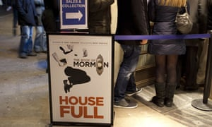 Queues outside The House of Mormon in London