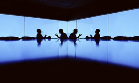 Boardroom with two men