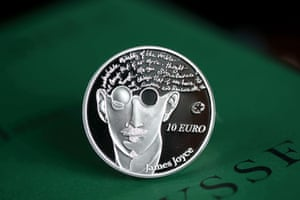 A view of a limited addition James Joyce collector coin issued by the Central Bank of Ireland. PRESS ASSOCIATION Photo. Issue date: Thursday April 11, 2013.