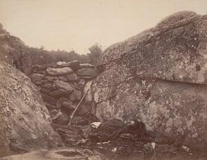 Civil war photography: Home of a Rebel Sharpshooter, Gettysburg, July 1863. Albumen silver print,
