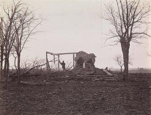 Civil war photography: 65. Ruins of Mrs. Henry's House.jpg