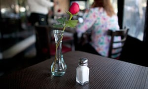 Salt shaker in a restaurant in Mexico City