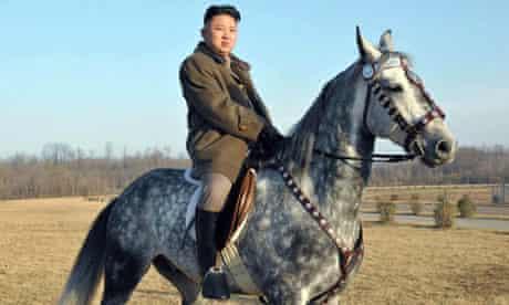Kim Jong-Un riding a horse