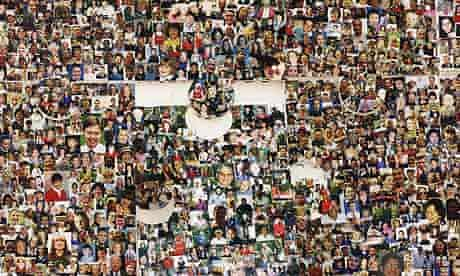 Jigsaw puzzle of more than 20,000 faces