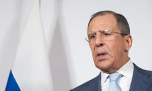 Sergei Lavrov speaks during a press conference in Neuchatel, Switzerland, on 12 April 2013.