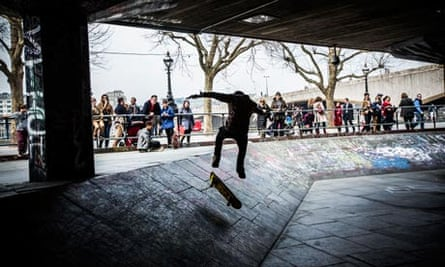 The South Bank skatepark, London
