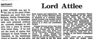 Attlee obit 1967
